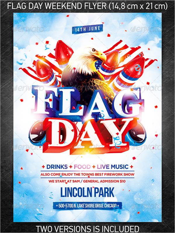 Flag Weekend Flyer Template