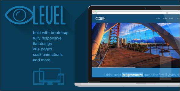 Flat Design Bootstrap Template