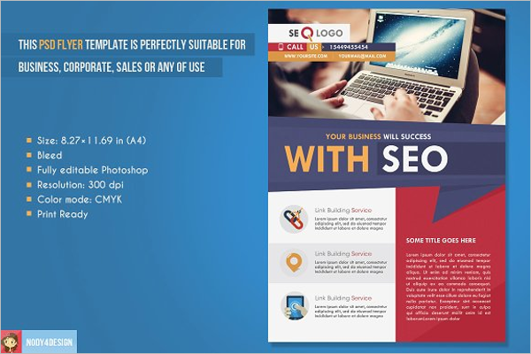 Flat SEO Flyer Template