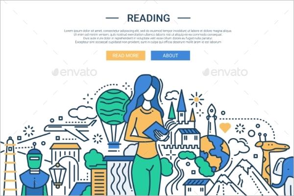 Flat Website Banner Template