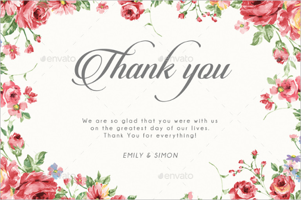 28 attractive floral thank you cards free word pdf
