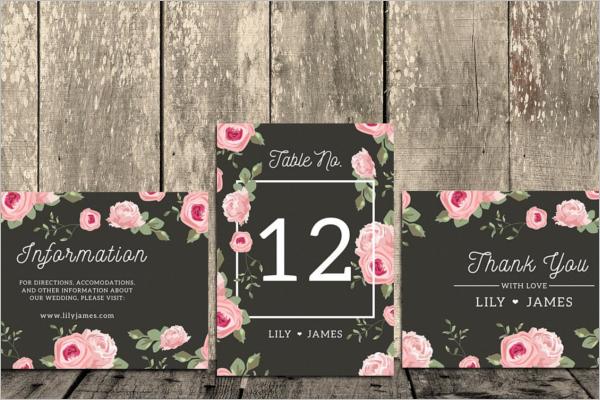 Floral Decorative Thank You Card Design
