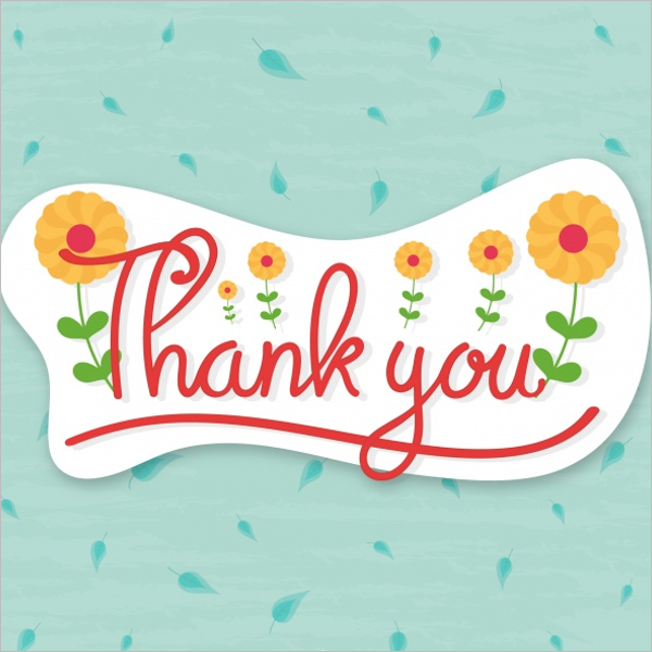 Floral Thank You Card Design Example