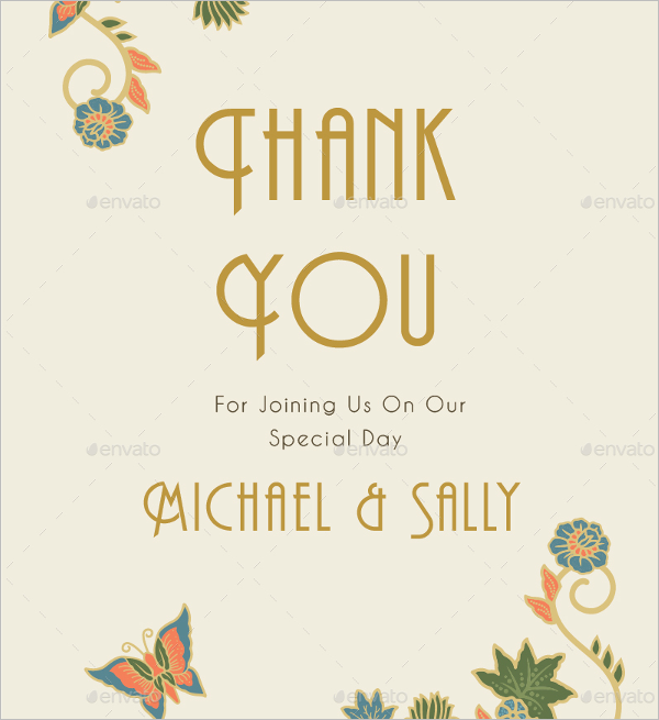 Floral Thank You Quote Card Design