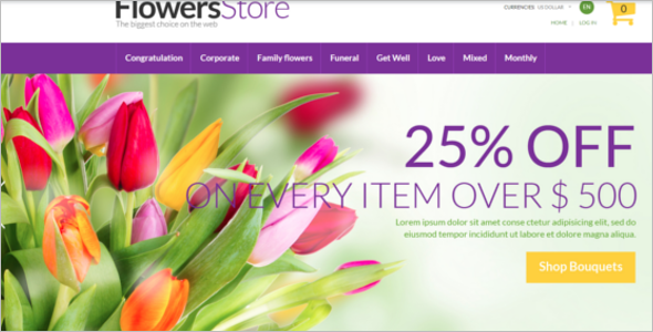 Flower Store Zen Cart Theme