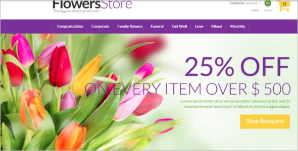 Flower Store Zen Cart Theme