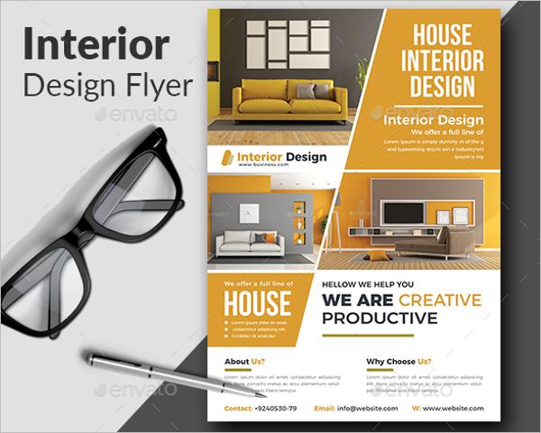 Flyer Design Interior Template