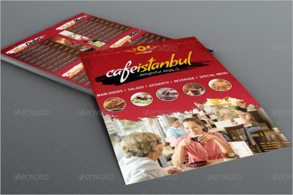 Flyer Menu Design For Cafe