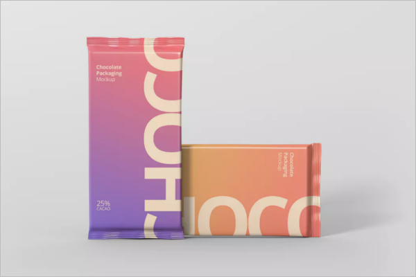 Foil Chocolate Packaging Mockup