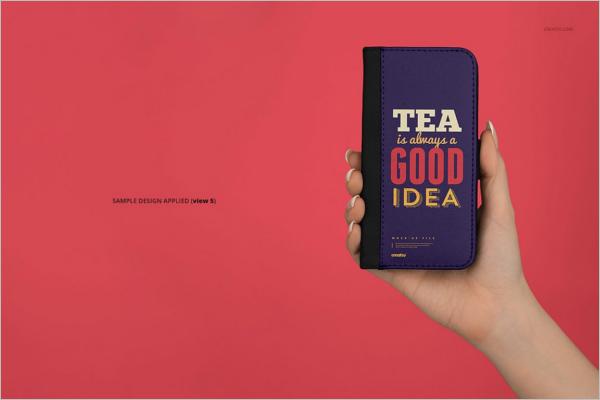 Foldable iPhone X Case Mockup Design