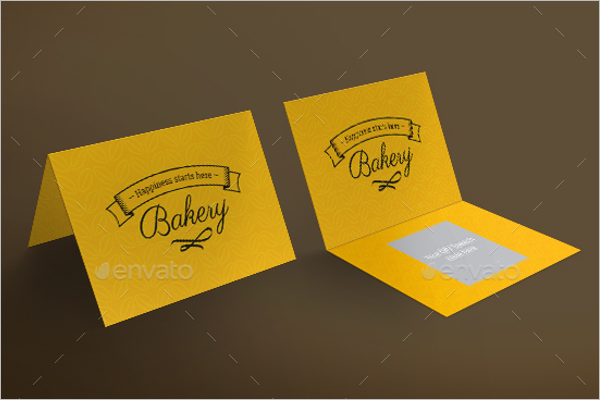Folded Bakery Business Card Design Template
