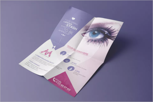 Folded Beauty Salon Flyer Design