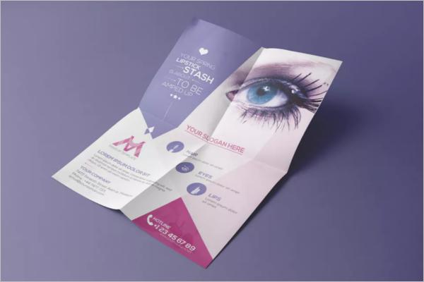 FoldedBeauty Salon Flyer Design