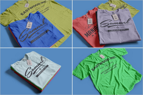 Folded T-Shirt Mockup Template