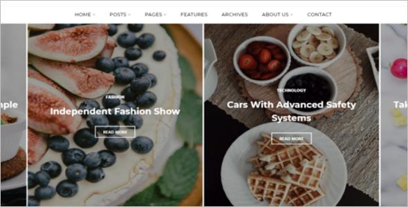 Food Blog Design Template
