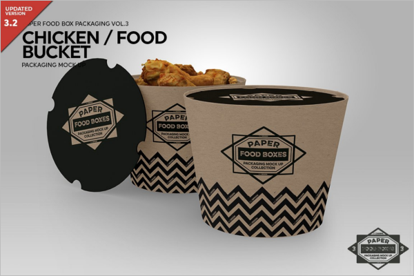 Food Bucket Packaging Mockup
