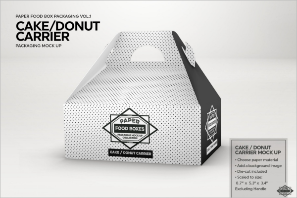 Food Carrier Packaging Mockup