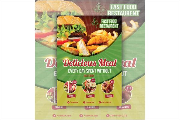 79 Restaurant Flyer Designs Free Psd Word Sample Templates