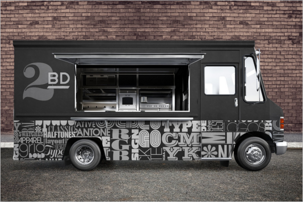Food Truck Mockup Design Template