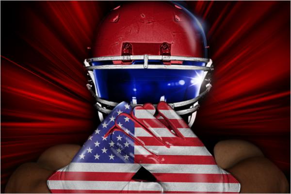 Football Helmet & Glove Mockup Design