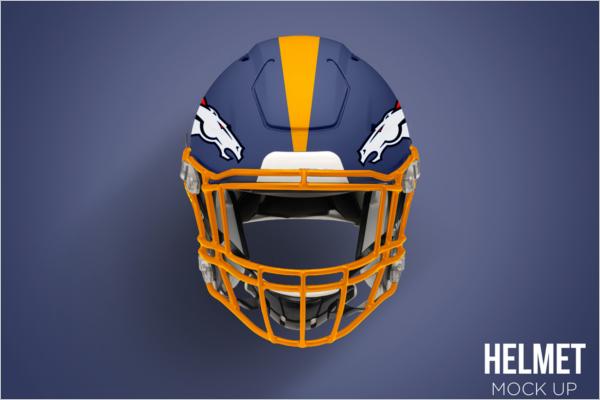 Football Helmet Mockup Free Photoshop Design