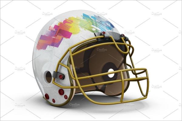 Football Helmet Mockup PSD
