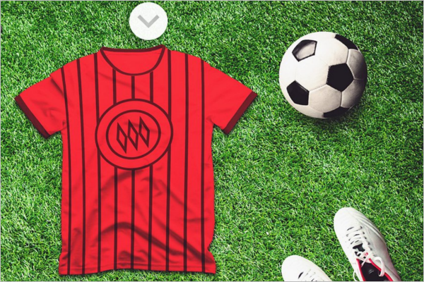Football Jersy Mockup Design Template