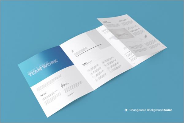 Four Fold A4 Brochure Template