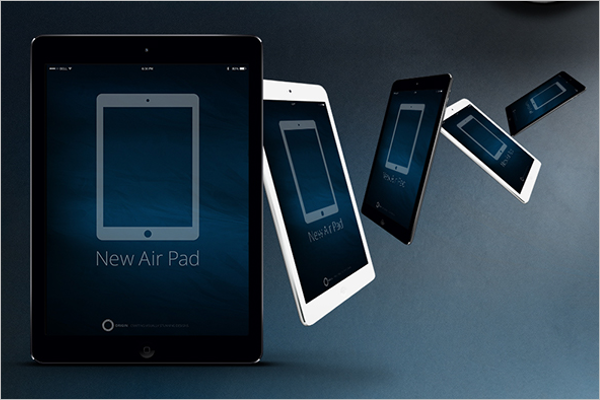 Free Apple iPad Mockup Set
