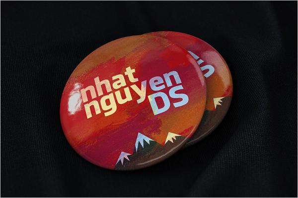 Free Badge Mockup Design