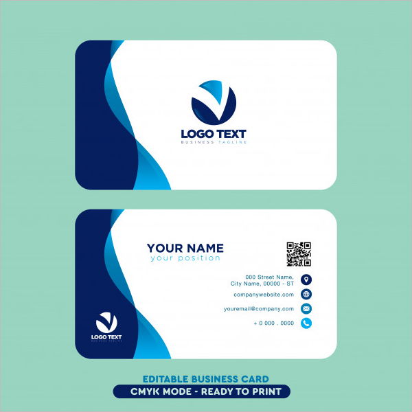 Free Business Card Template Vector