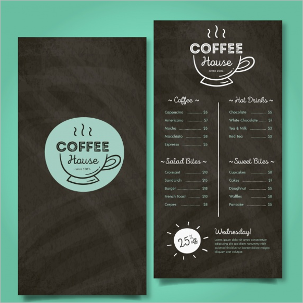 Free Cafe Menu Design Idea