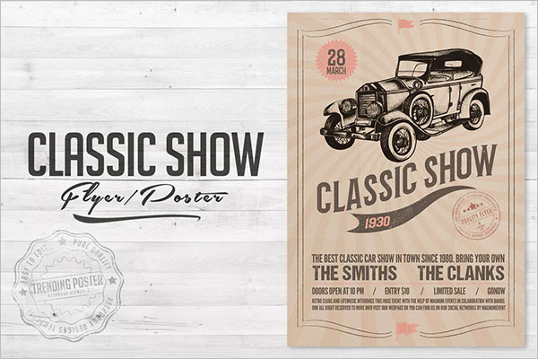 Car Show Flyer Templates Free PSD Word Samples - Car show flyer template