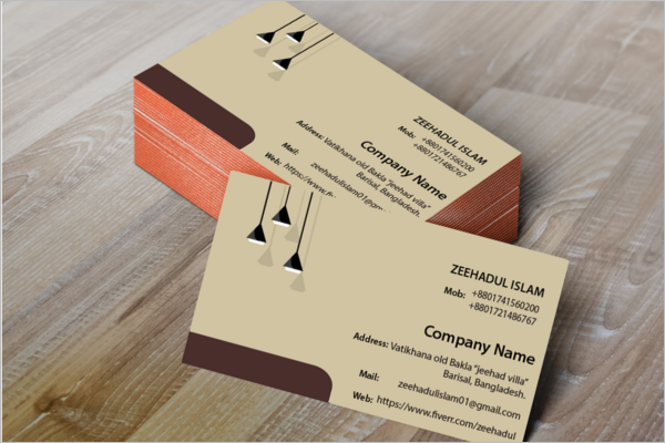 Free Electric Company Business Card Design