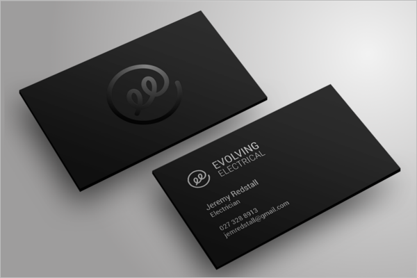 black electrician business card design - Electrician Business Cards