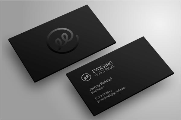 Black Electrician Business Card Design