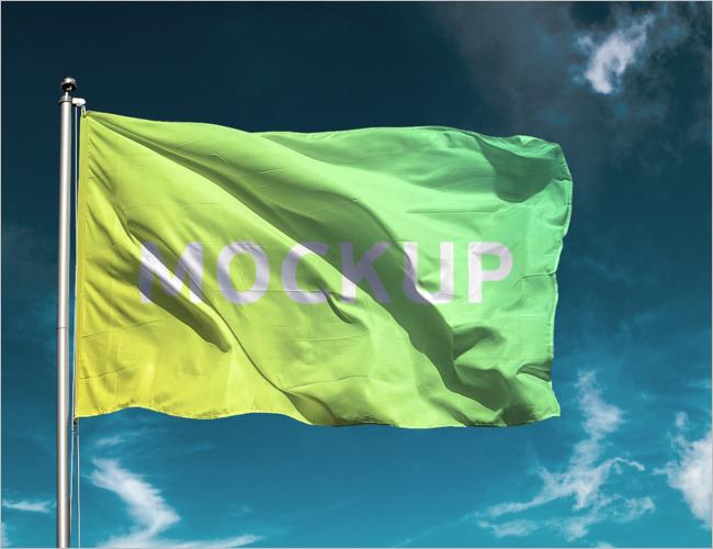 Free Flag Mockup Design