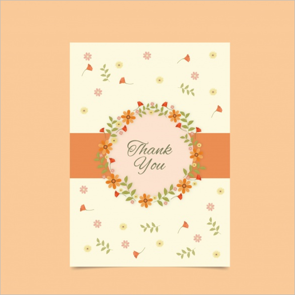 Free Floral Thank You Card Design