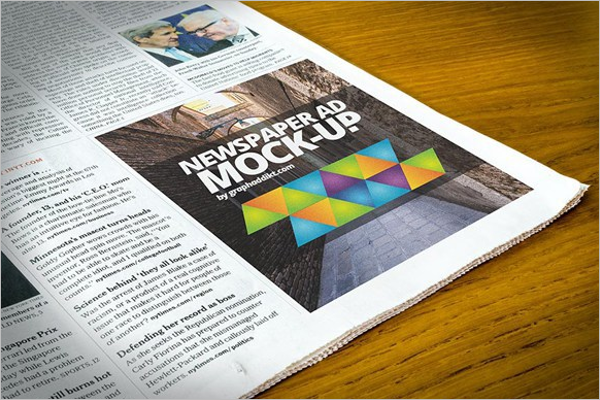 Free Newspaper Mockup Design
