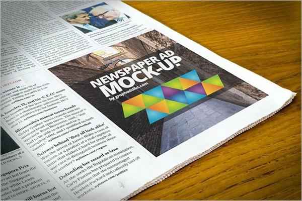 Free Newspaper Mockup Design