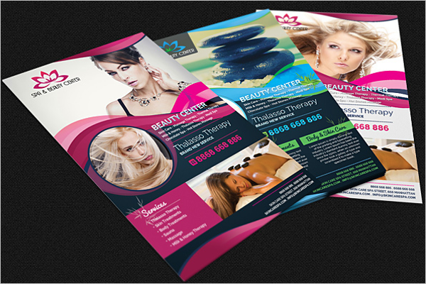 Free PSD Beauty Salon Flyer Design