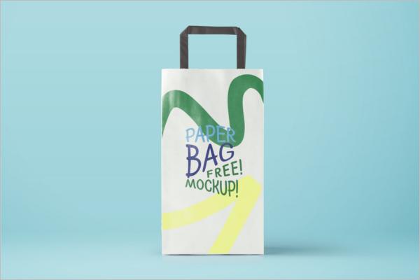 Free PSDPaper Bag Mockup Design