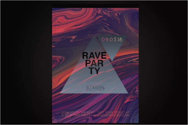 Free Party Poster Design PSD