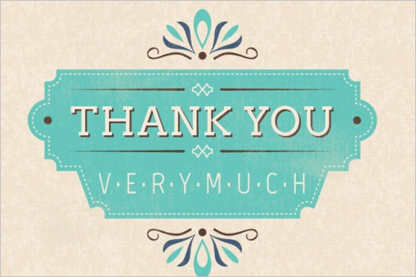 Free Printable Retro Thank You Card