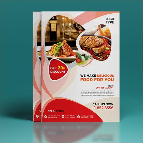 Free Restaurant Flyer Design Template