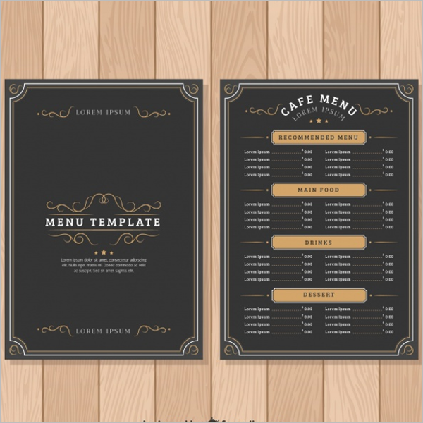 FreeRestaurant Menu Template Design