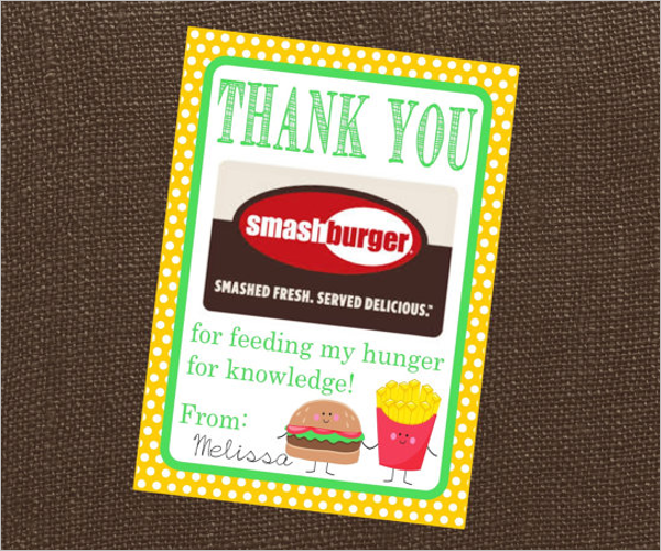 Free Restaurant Thank You Card Template
