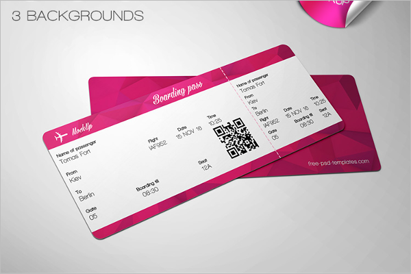 Ticket Mockup PSD Templates Free Photoshop Designs - Ticket design template photoshop