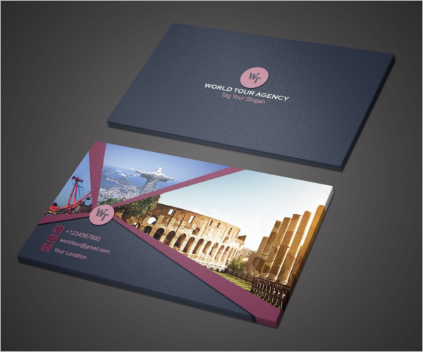 Free Travel Agency Business Card Design