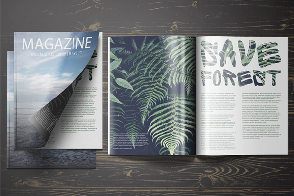 Free US Letter Magazine Mockup Design